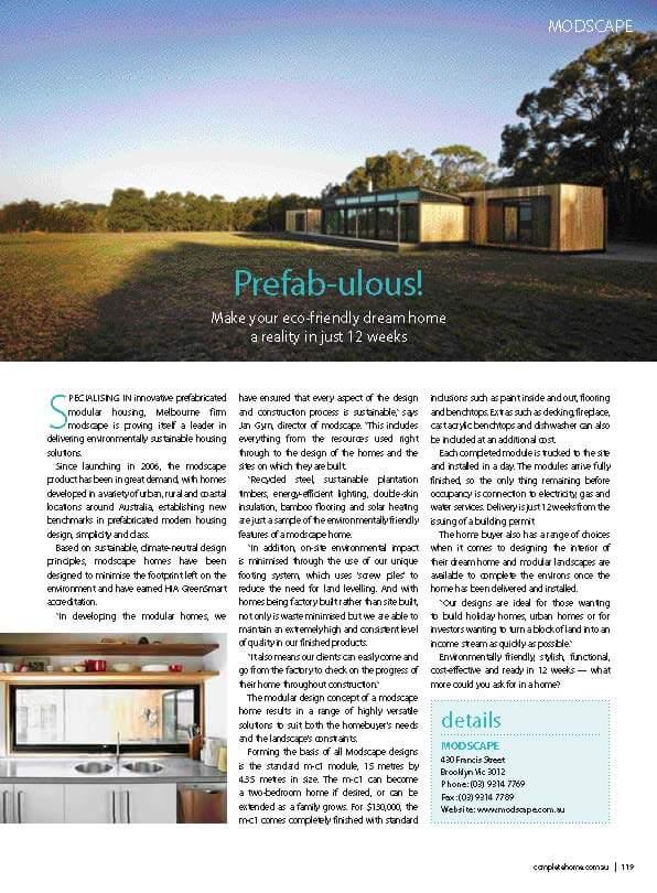 Merricks in Kit Homes Magazine