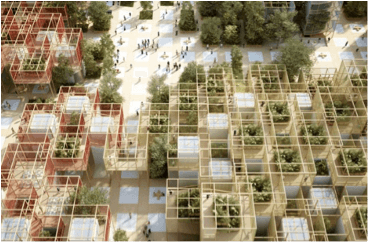 Modular Wooden Exhibition Space Planned for the International Horticultural Expo