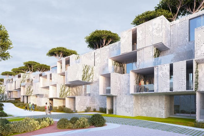 Tangier Bay project in Tangier, Morocco. Image via Malka Architecture