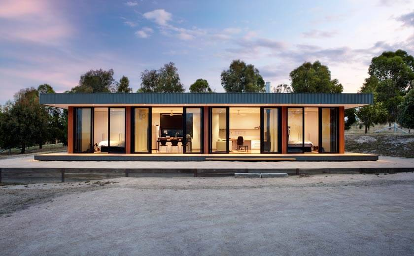 This modular home is one of the first modular housing projects completed by  Intermode. The prefab modular house system was conceived to create a modern  and ...