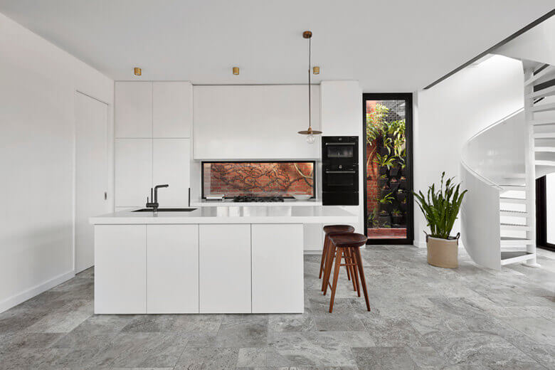 Kitchen lighting in a prefab home