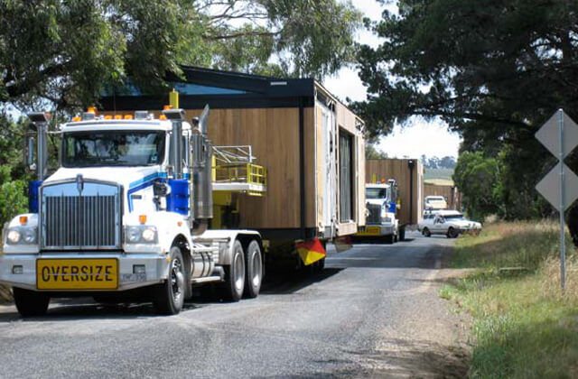 Transporting modules for modular homes
