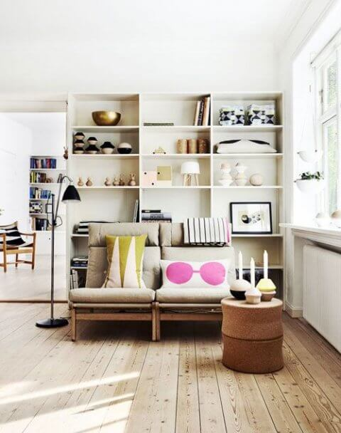 Creating depth and height in shelves of your prefab home